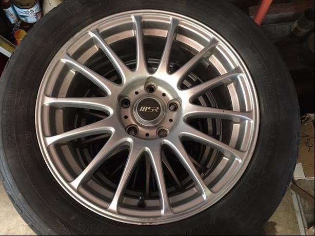"4 16""x7"" MSR wheels with Michelin tires"