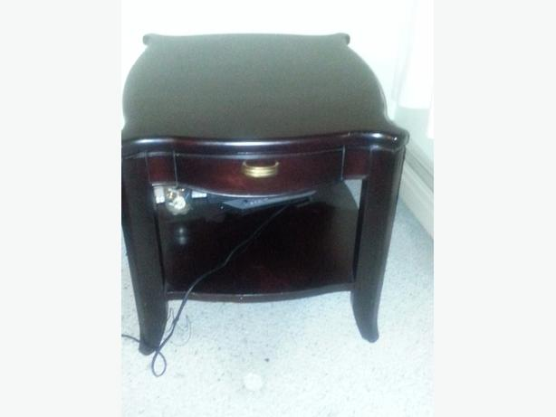 Dark brown night table