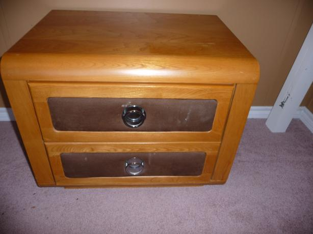 2 drawer solid wood night table by Princeville