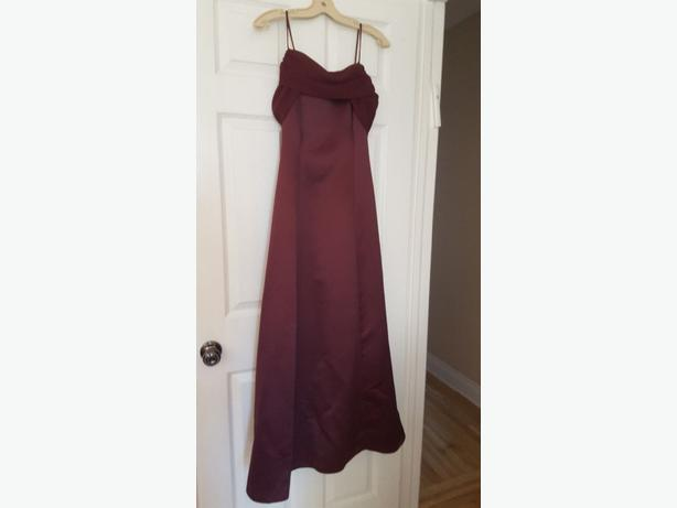 Made of honor dress- burgandy  size 9/10