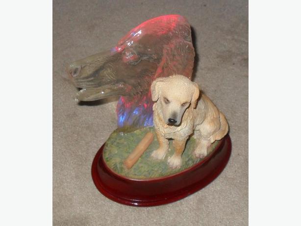 Windup Musical Decor Item with a Dog Motif