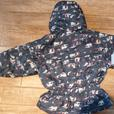 Girl's size 5 hooded winter jacket with new hat