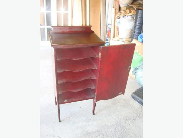 Beautiful Solid Mahogany Antique Cabinet Shelving Storage Sheet Music Rack $150
