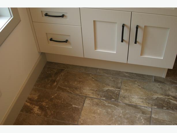 Brown and gray Bathroom tile