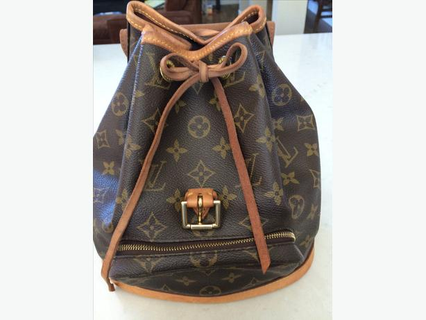 Authentic Louis Vuitton Montsouris PM Backpack Bag Purse Monogram