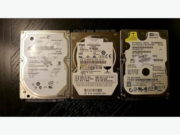 "Assorted 2.5"" Internal Hard Drive"