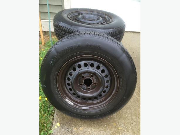 Four tires on Sunfire rims
