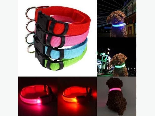 Night Safety Pet Flashing LED Ring Light Adjustable Leash Pet