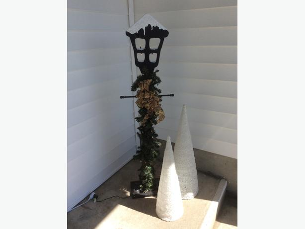 outdoor / indoor Christmas decor ... lantern or stucco trees