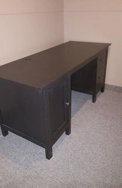 for sale ikea hemnes computer desk blk brn size gloucester ottawa. Black Bedroom Furniture Sets. Home Design Ideas