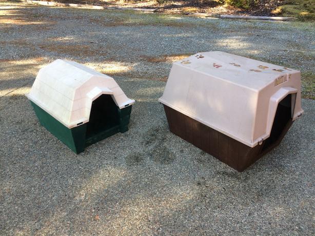 Two dog houses $40 & $30