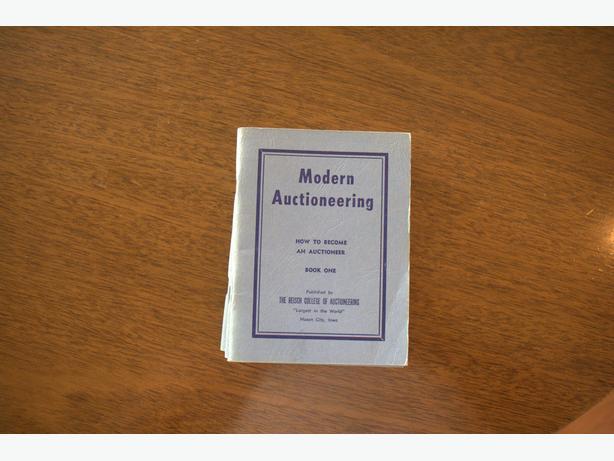 Vintage Modern Auctioneering book set