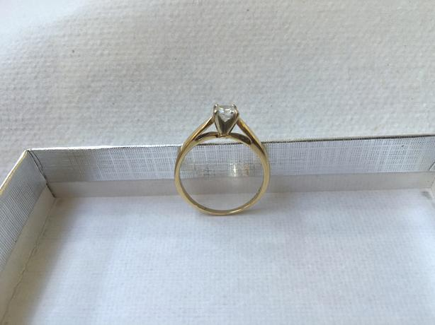 14-Karat Yellow Gold Diamond Solitaire Engagement Ring - OBO