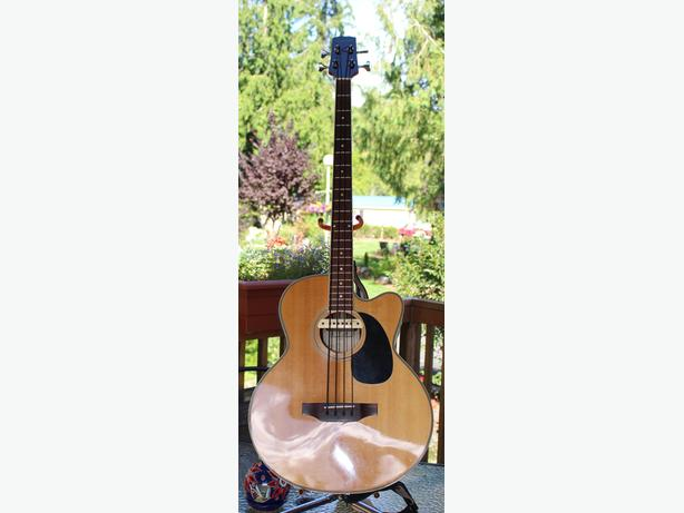 Acoustic Bass Guitar and Amp