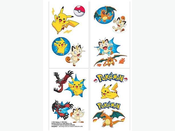 Pokemon Pikachu & Friends Set of 16 Tattoos - $4 per set