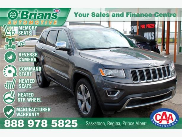 2015 Jeep Grand Cherokee Limited - LTHR 4x4 CMD STRT HTD SEATS WRNTY
