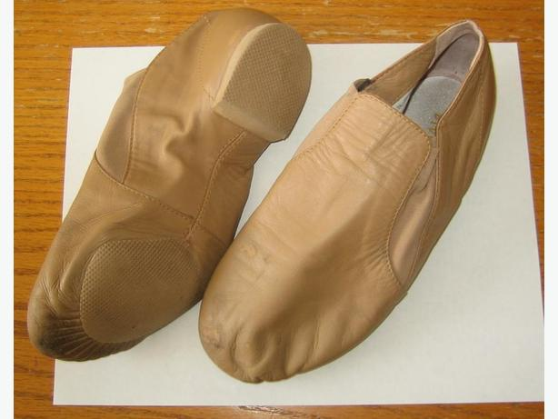 Bloch tan jazz dance shoes - size 7.5