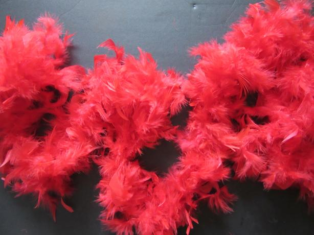TWO FEATHER BOAS (Red and Black)