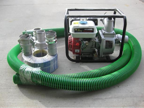 "NEW 3"" WATER PUMP c/w SUCTION & DISCHARGE HOSE"
