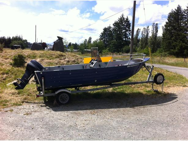 2004 16ft aluminum Duraboat, will trade for 20' ish travel trailer