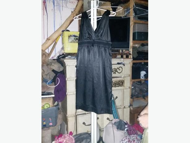 blk silk dress