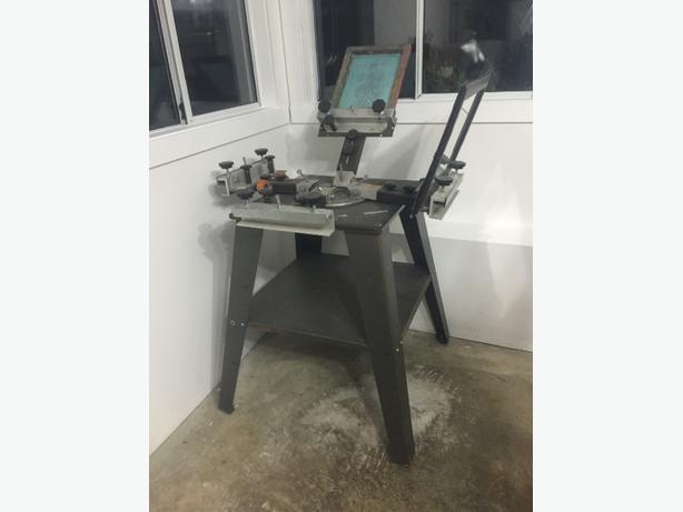 four press screen printing machine