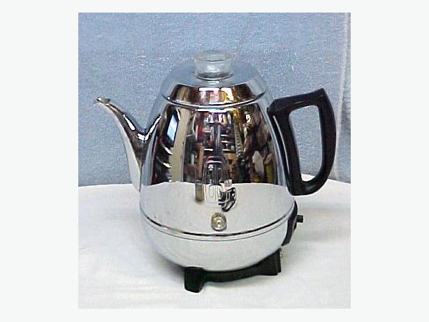 Retro General Electric Pot Belly Chrome Electric Percolator Coffee Maker