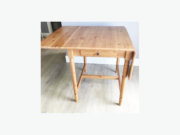 Ikea Pine Fold Dining Room Table Drop Side S Ends With
