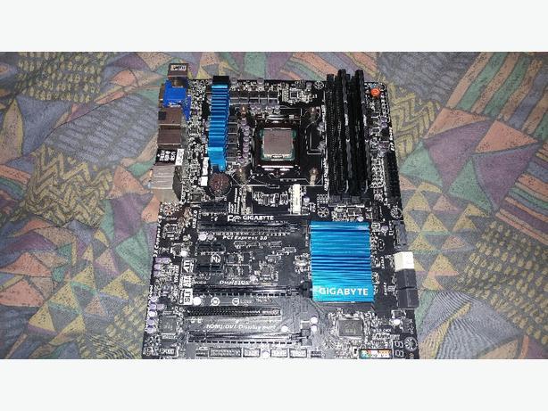 Gigabyte z77x-ud3h motherboard, i5-3570k 3.4 ghz quad cpu 8gig ram