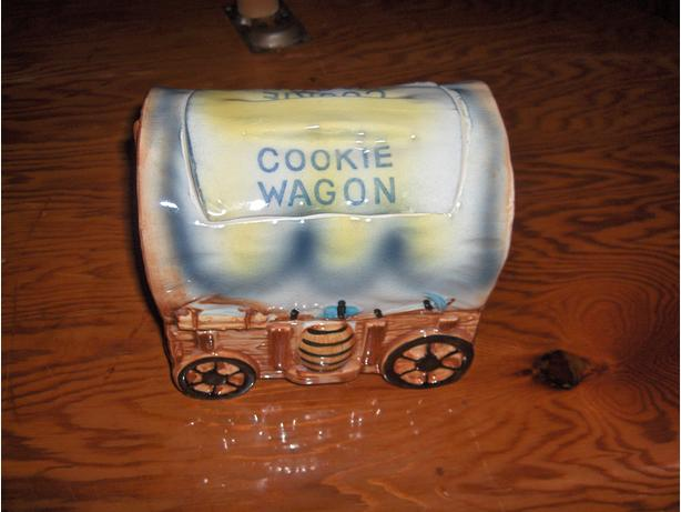 Vintage Chuck Wagon Cookie Jar
