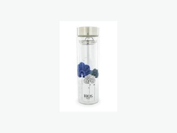 BIOS H2O Double Wall Glass Bottle with Tea Infuser