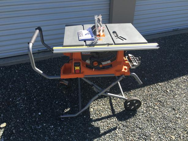Rigid 10 inch portable table saw with stand courtenay for 10 inch table saw with stand