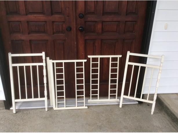 wooden project pieces .. wooden crib rails