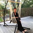 Dark Brown Rope Hammock Swing Chair Set of 2 Brand New