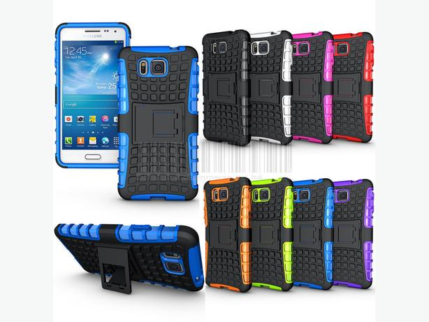 Rugged Armor Hybrid Stand Case For Samsung Galaxy Alpha G850F