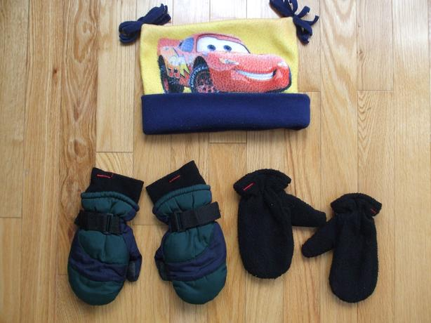 Toddler Fleece Hat and 2 pairs mitts