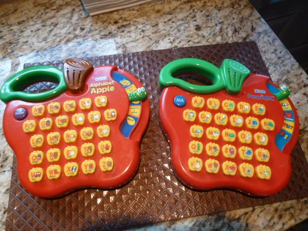 2 Vtech Alphabet Apple  One in English and other in French