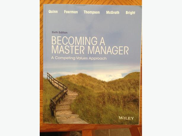 becoming a master manager Becoming a master manager, 5 th ed print version of the competing values competency questionnaire 2 competing values.