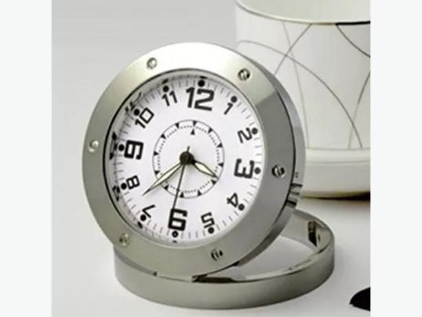 New fancy table top clock with hidden spy camera
