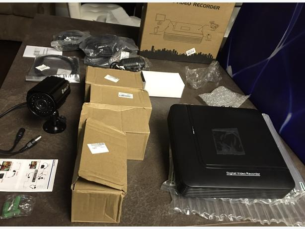 New CCTV 4 camera security system
