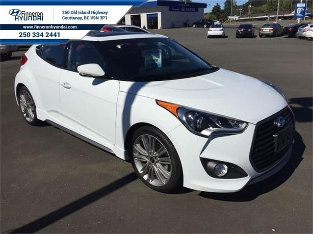 2016 Hyundai Veloster Turbo Navigation, Leather, Rearview Camera, Sunroo