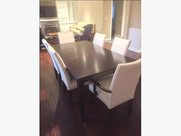 Quality Table & 6 Leather Chairs