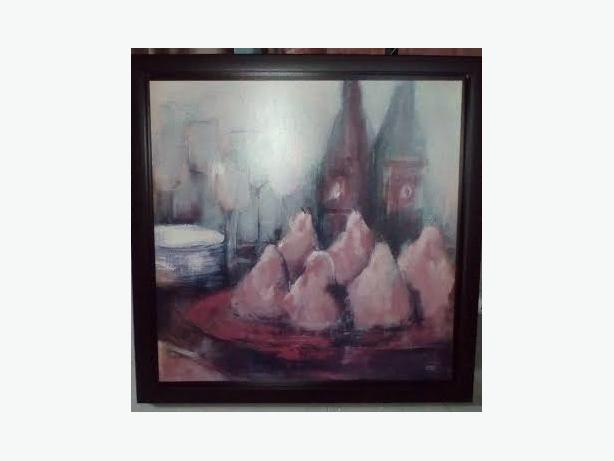 LARGE BUEATIFUL DINING FRAMED PICTURE