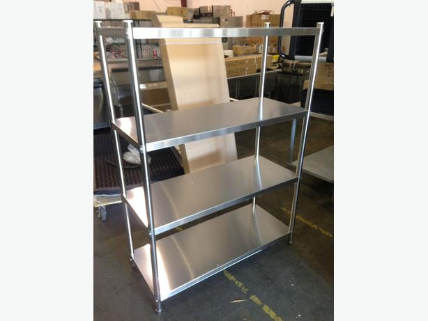 Stainless Steel Fixtures Auction – Sinks, Tables, Shelving