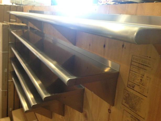 Massive Stainless Steel Wall Shelf Liquidation