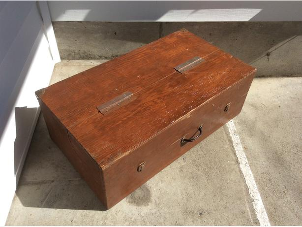 large wooden tool / storage box