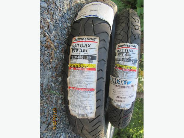 Set of New Bridgestone  Motorcycle tires!