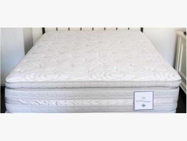 Queen Serta Euro Pillow Top Perfect Sleeper Bed West Shore