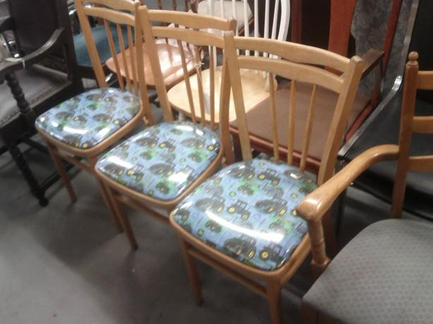 3 John Deer Chairs