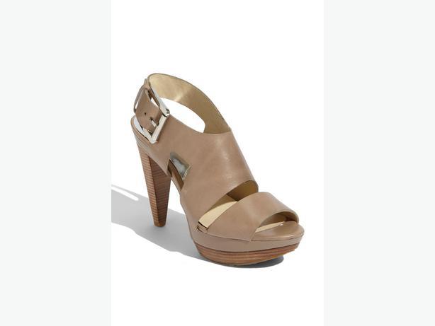 MICHAEL KORS 'CARLA' Women's platform sandal - Tan/Beige
